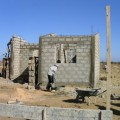 Built brick by brick. Habitat for Humanity, outside Dakar, Senegal. 2006