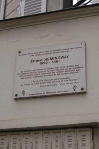 Earnst Hemingway home ParisDSCF0157