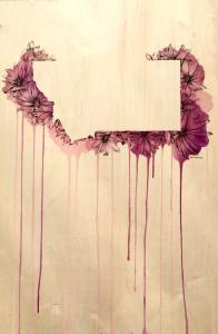 """Lewisia Rediviva (Bitterroot) by Artist Rachel Chansler"