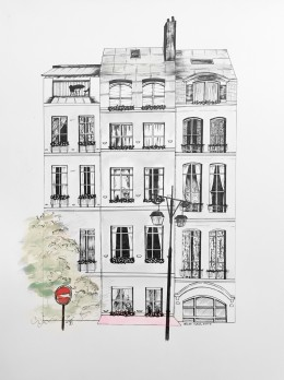 Rue de Paris by Artist Rachel Chansler